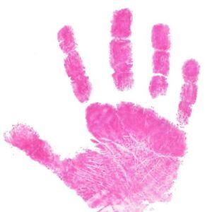Baby Safe Stempelkissen Hand Fußabdrücke Wiederverwendbar Pink