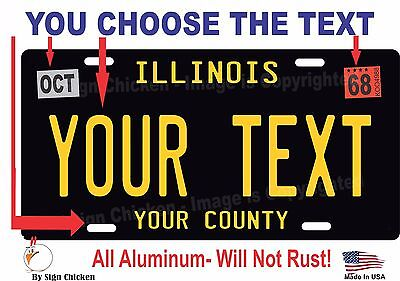 Illinois 1947 License Plate Personalized Custom Car Auto Bike Motorcycle Moped