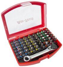 49PC Screwdriver Bit Set Colour Coded Mini Ratchet Phillips Pozi Torx Hex Case
