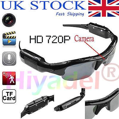 720P HD Spy Hidden Portable Recorder Camera Glasses Eyewear Surveillance DVR GRR