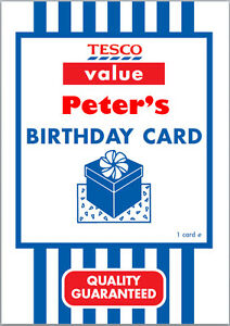 Tesco value birthday card a5 personalised with own words ebay image is loading tesco value birthday card a5 personalised with own bookmarktalkfo Images