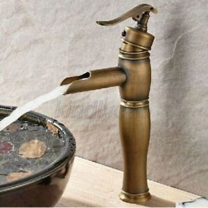 Details About Water Pump Style Antique Br Bathroom Vessel Sink Basin Tap Faucet Knf125