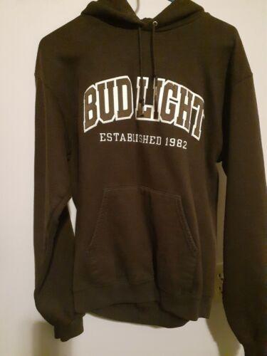 Champion brown w/ Bud Light Patch Hooded Sweatshir