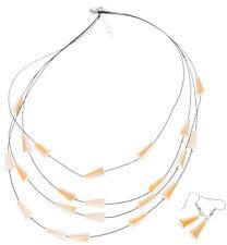 Cute OHRHÄNGER / Earrings Perlen HALSKETTE / Necklace - SCHMUCKSET Rockabilly