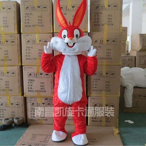 2019 Cosplay Rabbit Mascot Costume Suit Party Game Dress Outfit Halloween Adult