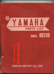 Yamaha-RD200-73-75-Genuine-Factory-Parts-List-Catalog-Manual-Book-RD-200-BX56