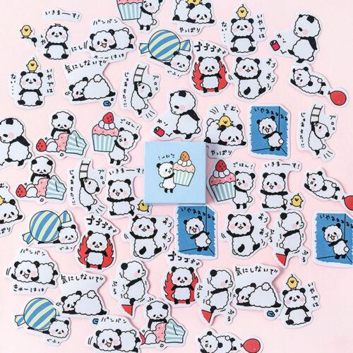 45pcs//box Cute Panda Baby Paper Sticker Kawaii Stationery DIY Label Stickers