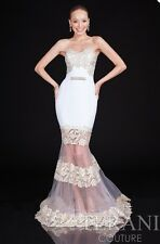 Terani Couture Style 1611P1357 Lace Embellished Mermaid Gown, Size 2