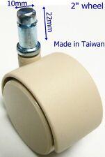 Oajen 2 Chair Caster Wheel For Ikea Chair Tan Pack Of 5 10mm Diameter Stem