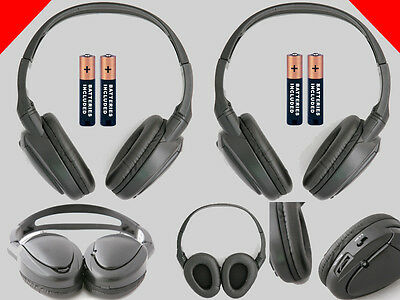 2 Wireless Headphones for Cadillac DVD System : New Headsets