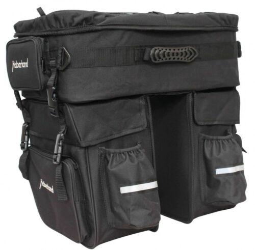 Haberland Fahrrad Fahrradtasche Dreifachpacktasche schwarz 60 ltr