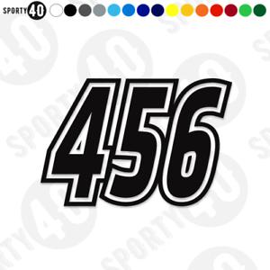 Los-numeros-de-vinilo-en-las-rayas-de-carrera-Pegatinas-2x150mm-2305-0219B-Scooter-De-Alta