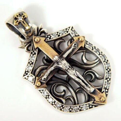 Jesús Oro De 14k Crucifijo Diamante Plata Para Hombre Colgante Para Collar De Cadena