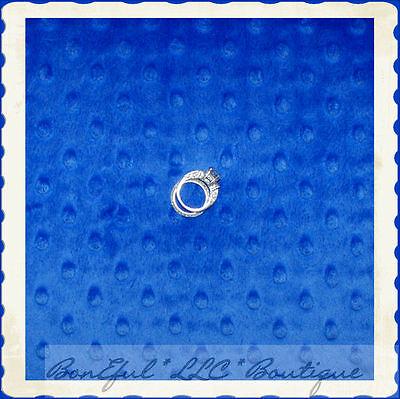 BonEful Fabric FQ Cotton KNIT Blue MINKY Soft Polka Dot Texture Baby Quilt Sport