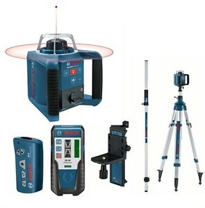 Agressif Bosch Grl 300hv Niveau Laser Rotatif + Gr240 Barre Métrique + Bt330hd Trépied Grandes VariéTéS