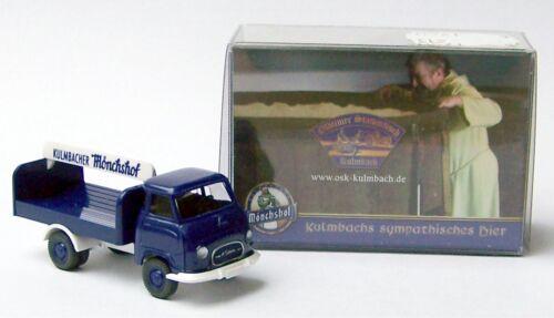 """Hanomag mensajero bebidas carro /""""Kulmbacher mönchshof-cerveza/"""" Wiking colección h0"""