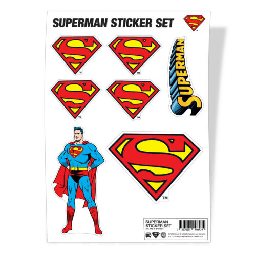 Superman Man of Steel Logo DC Comics Sticker Sheet Stickers Aufkleber