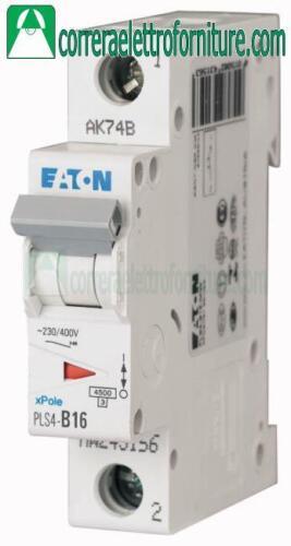 Interruttore magnetotermico 1P 16A 4,5KA EATON 243182