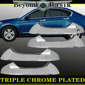 2008 2009 2010 2011 2012 Honda Accord Sedan Chrome Door Handle COVERS Overlays