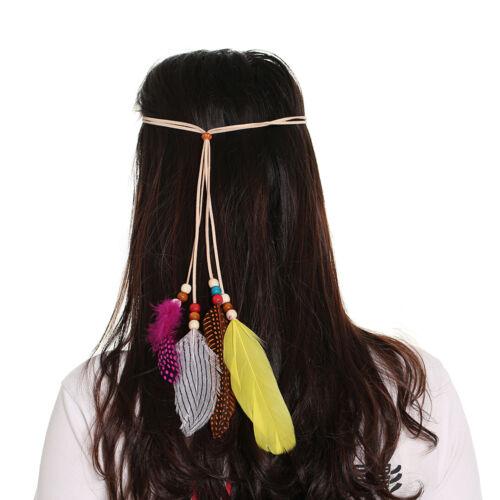 Women Feather headdress Hippy Bohemian Head bands Festival Party Carnival