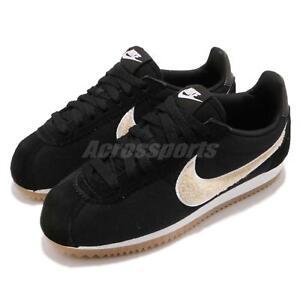 Nike Wmns Classic Cortez PREM Premium Black Light Cream Gum Women ... 0597107f1