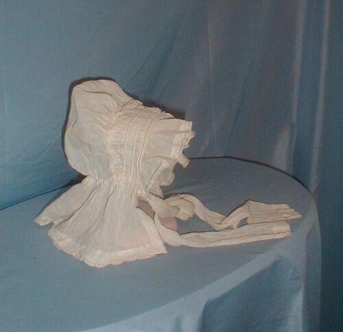 Antique Child's Dress Bonnet Rare 1820's Corded Co