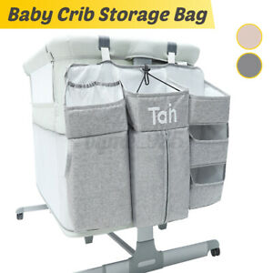 Baby-Bed-Crib-Hanging-Storage-Bag-Toy-Diaper-Pocket-Bedside-Organizer