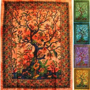 Wandbehang-Lebensbaum-Baum-des-Lebens-140x210-cm-Tree-of-Life-Wandbild-Tapestry