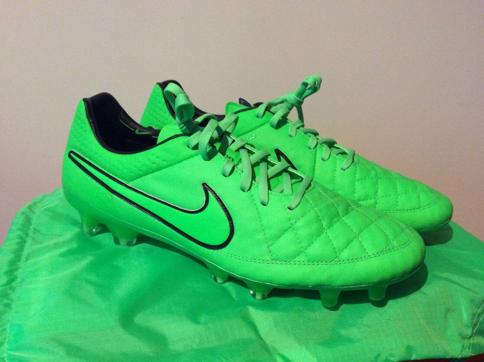 Da Uomo Nike Tiempo Legend V FG verde Strike Calcio Boost esaurita