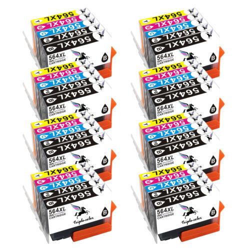 High Yield 564 XL Ink Cartridges Lot for HP C6375 C6380 C6383 C6388 D5445 D5460