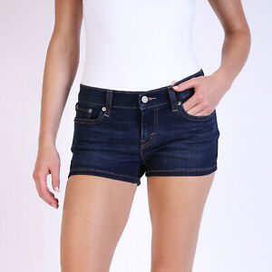 Levi-039-s-Indigo-Blau-Damen-Denim-Shorts-DE-34-US-W27