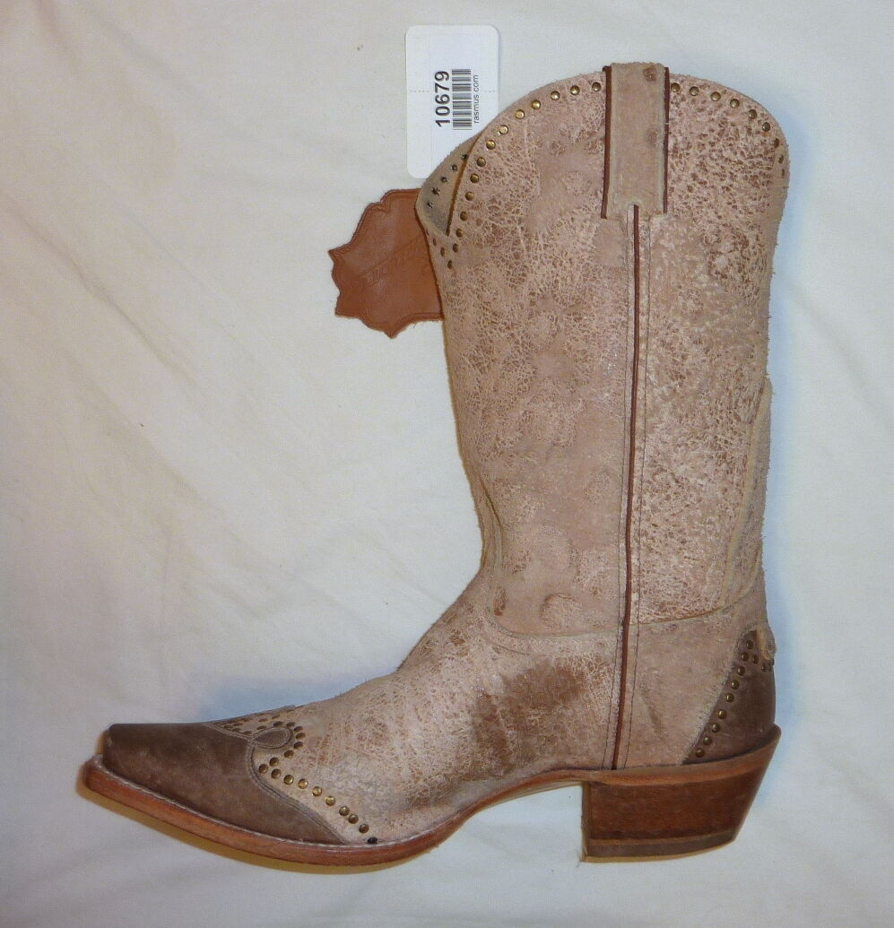 Sonora SN1046 Size 6B Womens Riley Rough Out Western Cowgirl Boots SAND NEW!