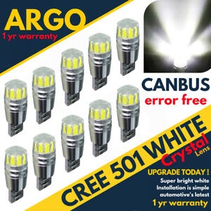 501-LED-WHITE-T10-XENON-CAR-BULB-W5W-CANBUS-ERROR-FREE-NUMBER-PLATE-SIDE-LIGHT