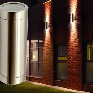 design led haus wand strahler edelstahl up down leuchte 10 watt fassaden lampe ebay. Black Bedroom Furniture Sets. Home Design Ideas