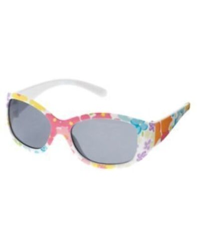 GYMBOREE BUTTERFLY BLOSSOMS WHITE FLORAL SUNGLASSES 0 2 3 4 5 6 NWT