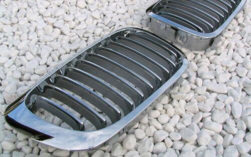 CHROM CHROME GRILL GRILLE KÜHLERGRILL SET FÜR BMW E46 3er CABRIO COUPE 1999-2002