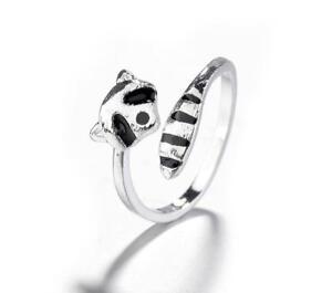 bijoux argent raton laveur