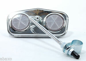 Classic-Vintage-Bike-Bicycle-Rear-View-Mirror-Pentagon-Chrome-Plated-Reflectors