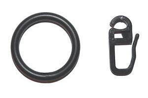 10-Vorhangringe-Metall-schwarz-fuer-Gardinenstangen-12-mm-16-mm-20-mm-Durchmesser