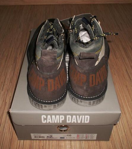 NEU Camp David Leder Schnürboots Boots Sneaker Halbschuh Schnürschuh  Gr.42