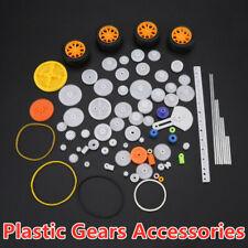 78pcs Plastic Gear Pulley Belt Worm Rack Kit Gear Set Shaft Belt Set Accessories