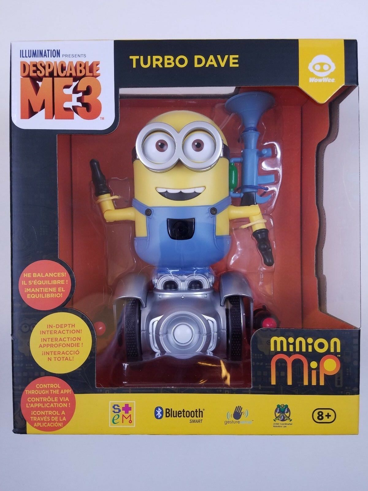TURBO DAVE Despicable Me 3 Minions MiP WowWee - NEW  Blautooth Hand Gestures