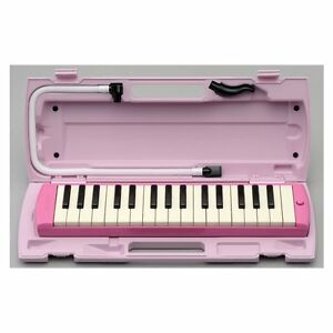 Ambitieux Yamaha Pianica Rose P32-ep Neuf Melodica Melodyhorn De Japon Apparence Brillante Et Translucide