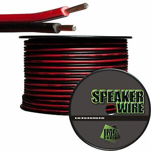 16-Gauge-Speaker-Wire-Red-Black-Cable-Power-Ground-Strand-Copper-25-Ft-Car-Home