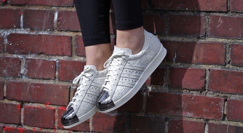 Womens Adidas Superstar 80s Metal Toe S82483 US 10