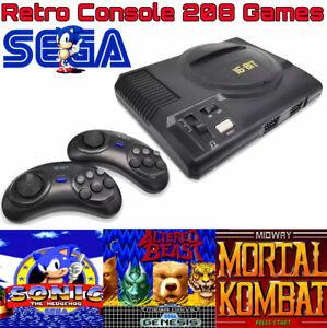 Console Retrô Sega Genesis console 208 jogos incluídos console Retrô Jogos 16 Bits