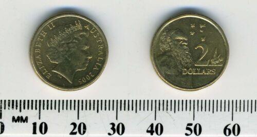 Queen Elizabeth II Aboriginal Elder Australia 2005-2 Dollars Coin