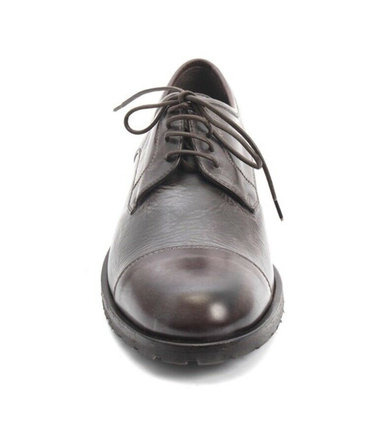 ROBERTO SERPENTINI 3441 Antique Vintage Brown Pelle Pelle Pelle Lace-Up Shoes 45 / US 12 86b29a