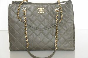 13f4f8212e11 Image is loading New-CHANEL-Classic-Accordion-Grand-Shopping-Large-Tote-