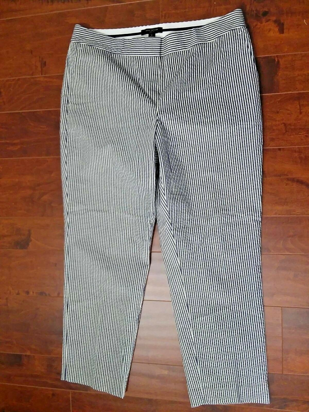 Ann Taylor Devin Straightest Fit Dress Pants Striped Women Size 10 NWOT HP